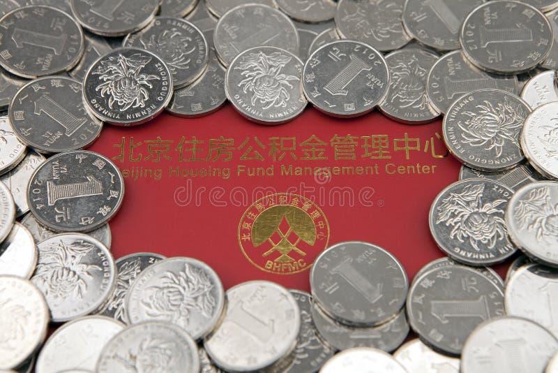 Monety i lokalowy akumulacja funduszu bankbook obrazy royalty free