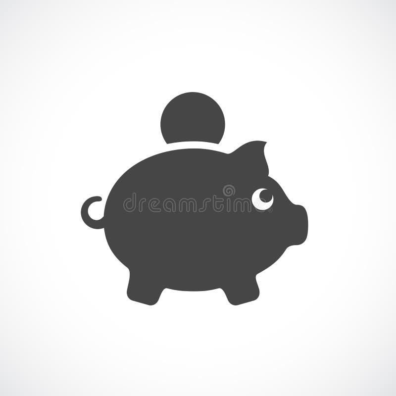 Monety i pieniądze pudełka wektoru ikona ilustracja wektor