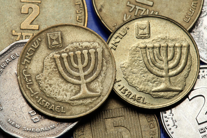 Monety Izrael obrazy royalty free