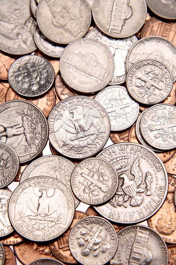 monety jest u zdjęcie stock