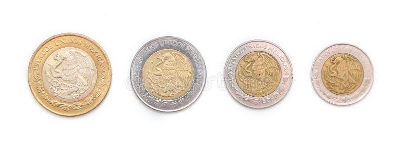 monety meksykanina fotografia stock