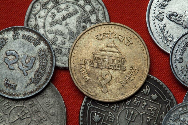 Monety Nepal Bageshwori świątynia w Nepalgunj zdjęcie royalty free