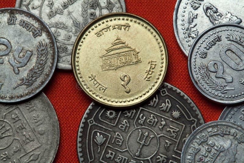 Monety Nepal Bageshwori świątynia w Nepalgunj zdjęcia stock