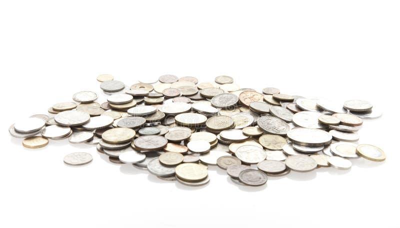 Monety Odizolowywać Zdjęcia Stock