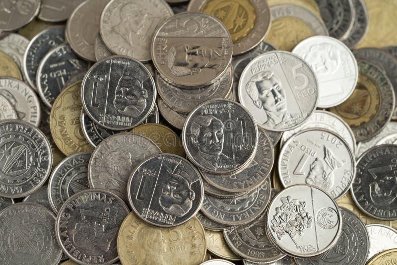 Monety Peso filipińskie zdjęcia royalty free