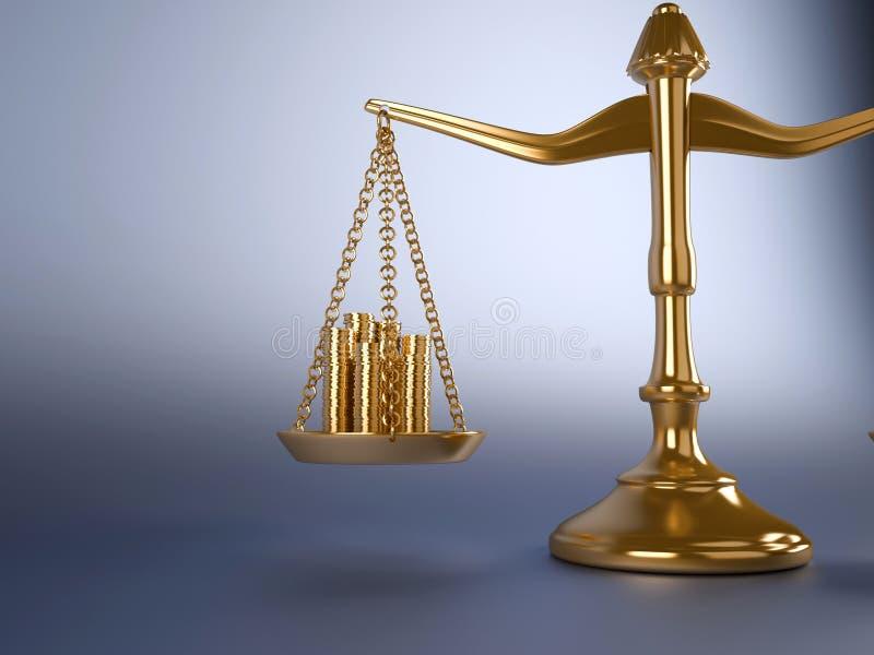 monety skala royalty ilustracja