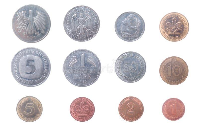 monety starego German obrazy royalty free