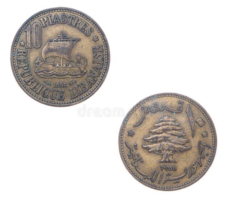 monety starego Lebanon obraz royalty free