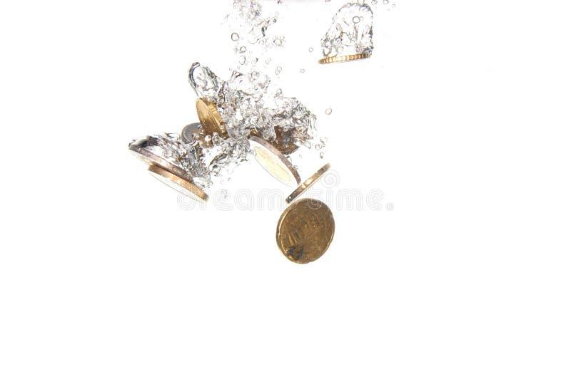 monety woda obraz royalty free