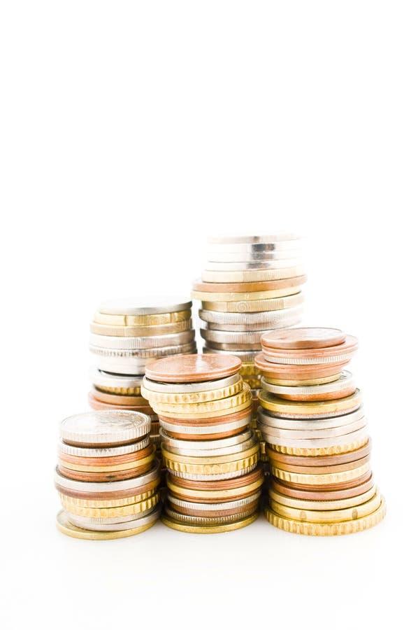 monety wypiętrzać zdjęcia royalty free