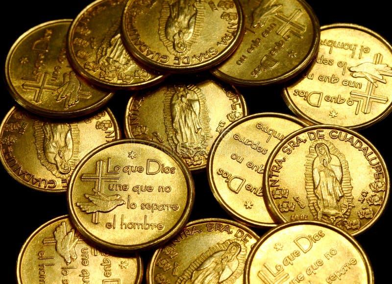 monety złota widok zdjęcie stock