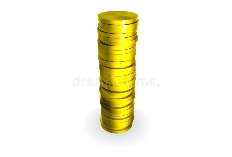 monety złoto ilustracja wektor