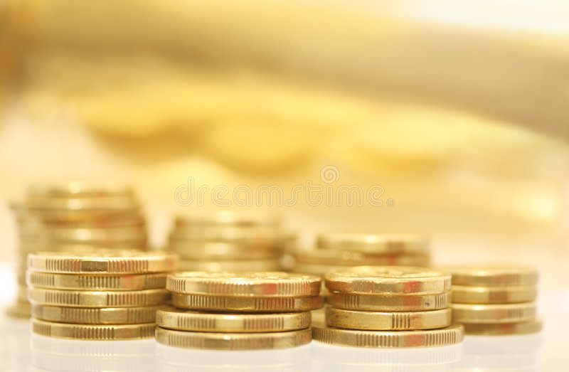 monety złoto obraz stock
