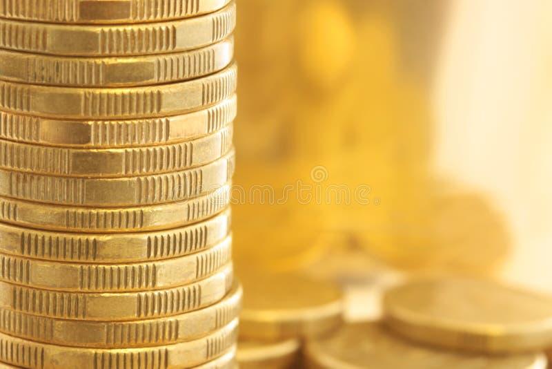 monety złoto obrazy stock