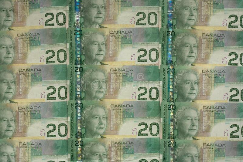 Money 029 Bill Lot Of Cad Royalty Free Stock Photo