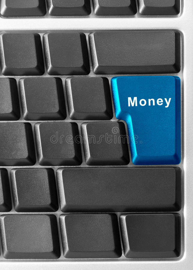 MONEY. Computer keyboard with MONEY button stock image