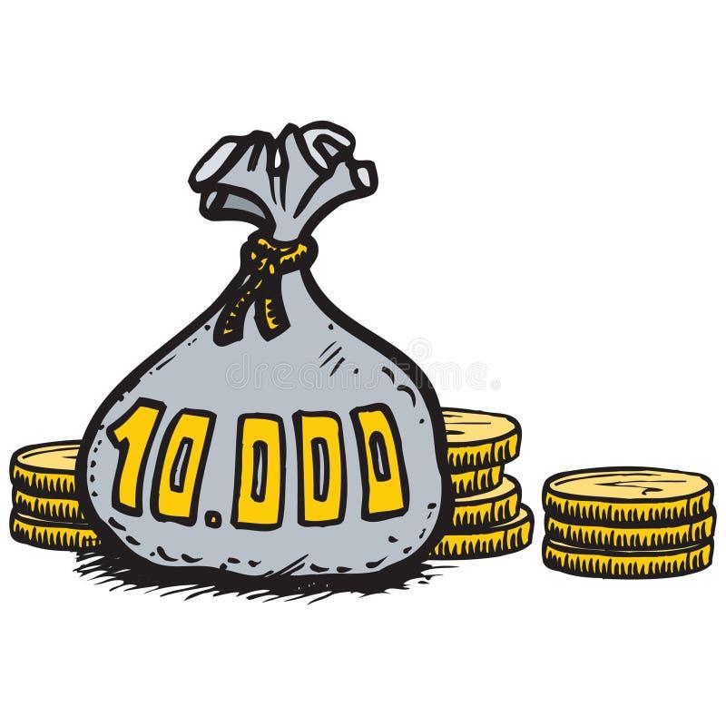 Download Money stock illustration. Illustration of moneybag, dinero - 171635