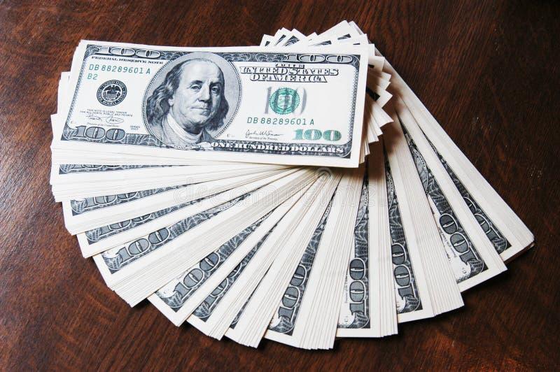 Money. Lot of hundred dollars stock photo