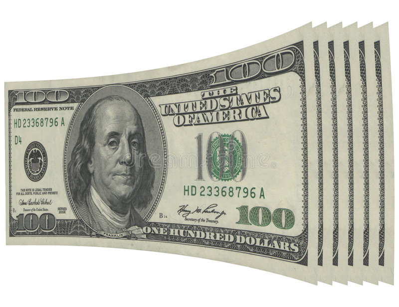 Money. US money - 100 US dollar banknote stock photo