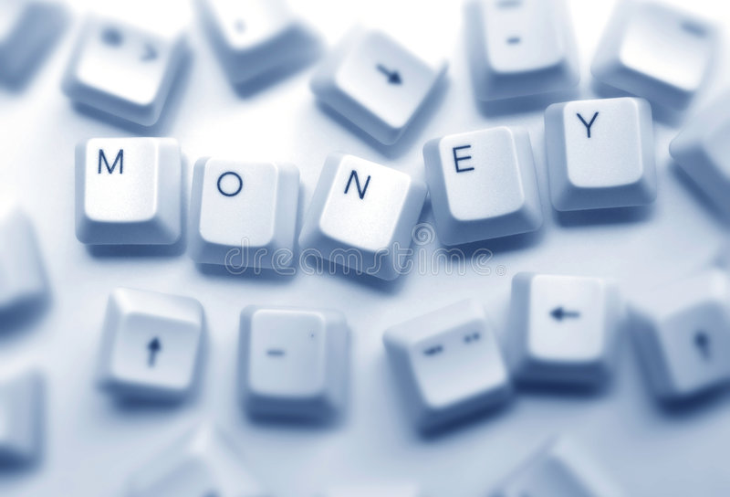 Money. Close up of computer keys with money word royalty free stock images