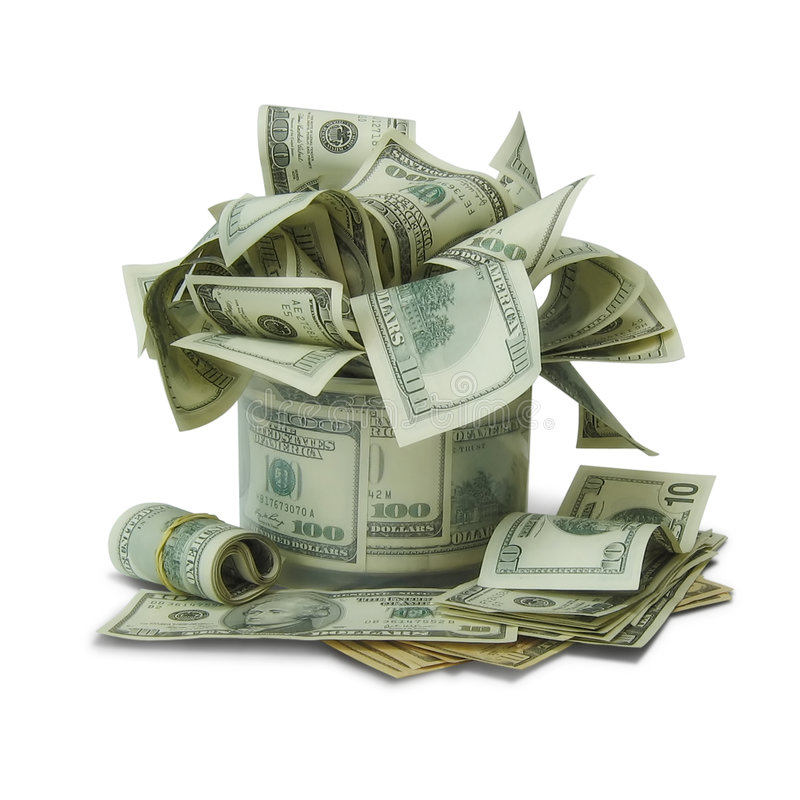Money. Bunch of money. From 100 dollars royalty free stock images