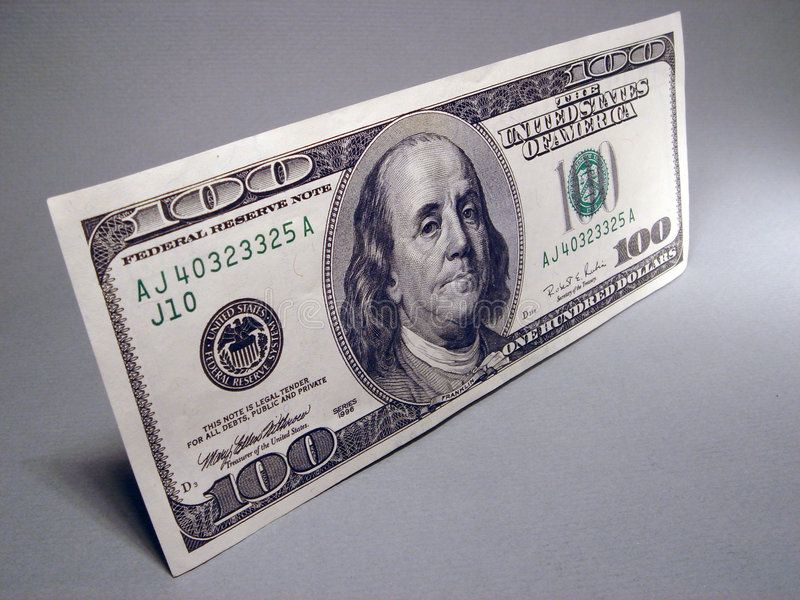 Money. One Hundred Dollar royalty free stock photography