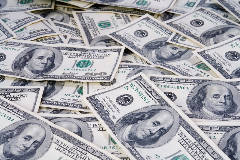 Money. Photography the dollars which lies disorderly stock photography