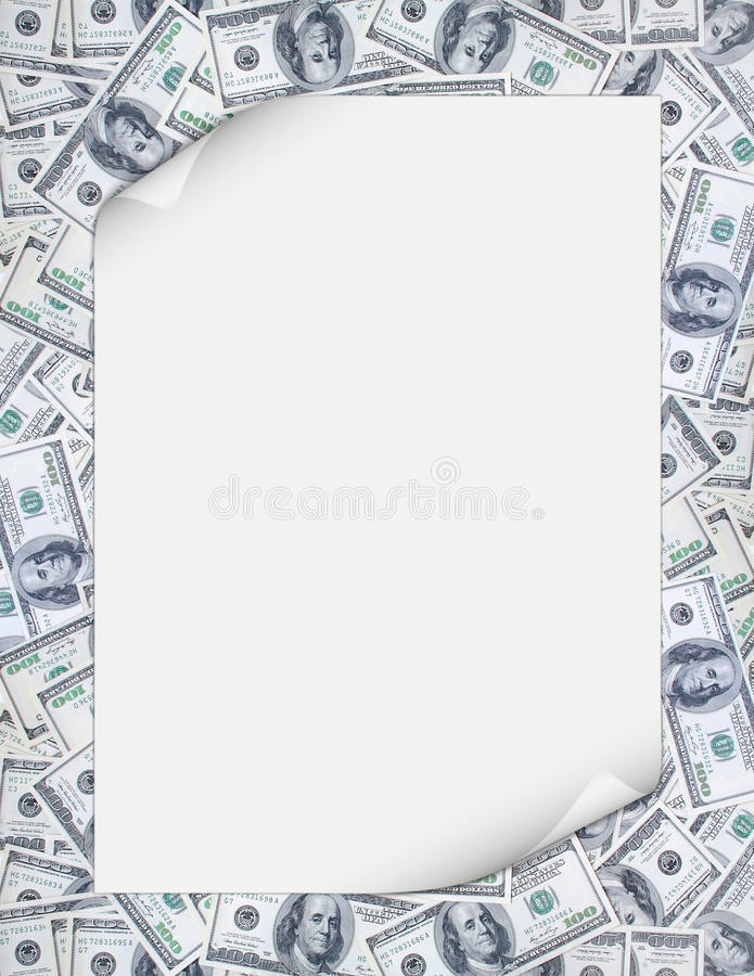 Money. Business card on the money backgrounds