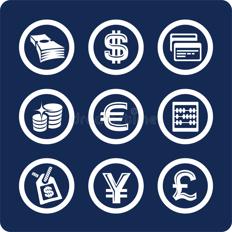 Free Money And Finance Icons (set 10, Part 2) Stock Image - 602571