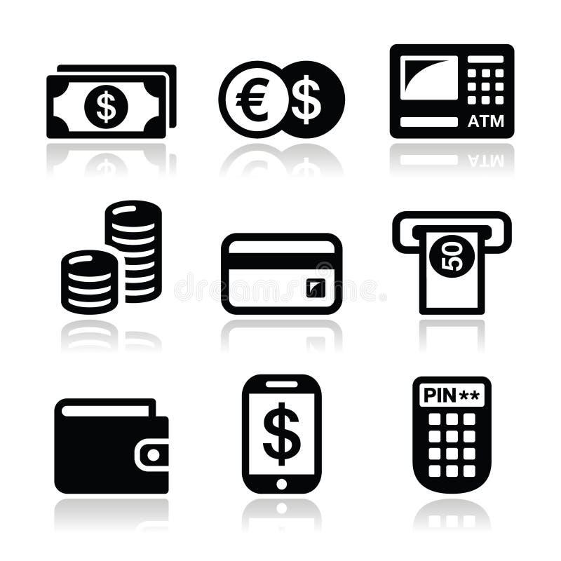 Free Money, Atm - Cash Mashine Vector Icons Set Royalty Free Stock Photo - 29640045