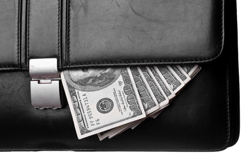 Money in attache stock images