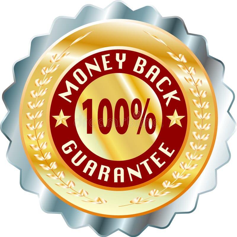 Money back. Vector label for money back stock illustration