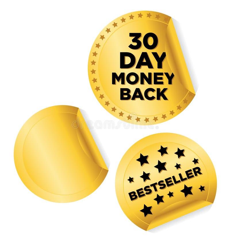 Money_back_ stock de ilustración