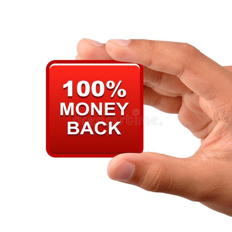 Money back button icon stock image