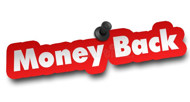 Money back concept 3d illustration isolated. On white background vector illustration