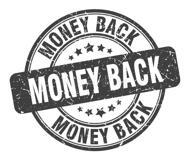 money back stamp vector illustration