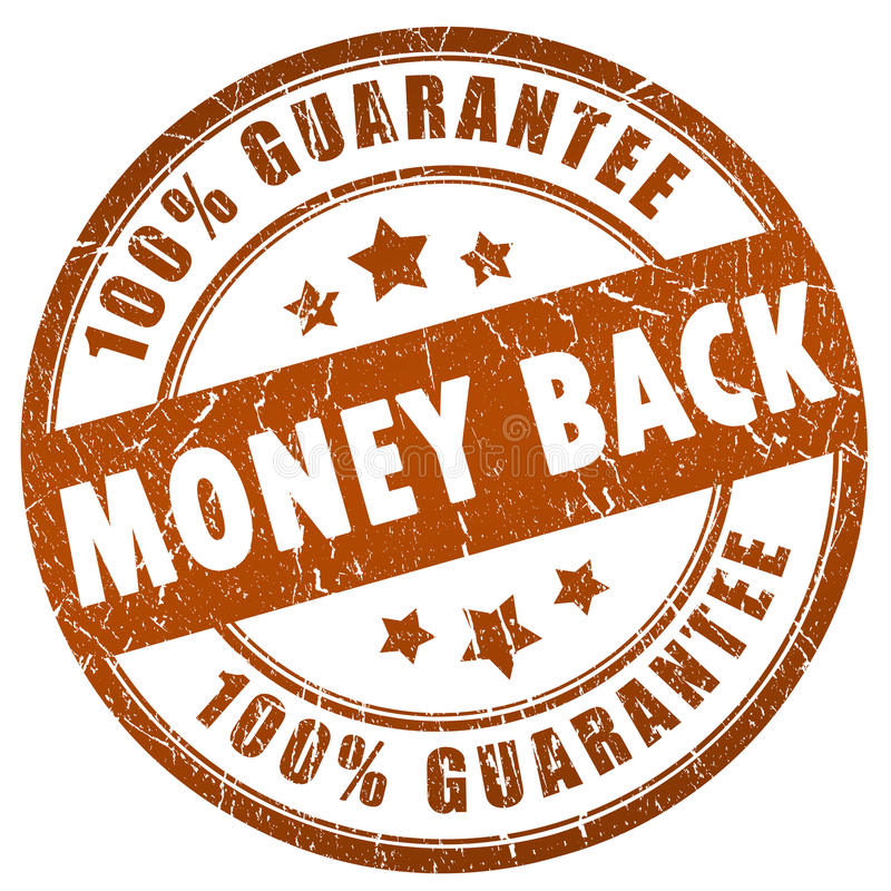 Money back guarantee vector illustration