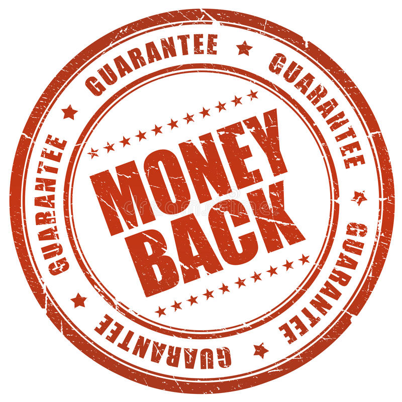 Money back guarantee royalty free illustration