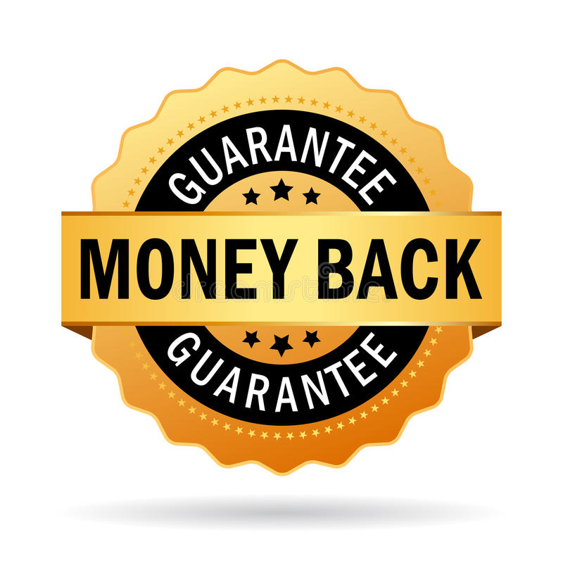 Money back guarantee. Business seal royalty free illustration