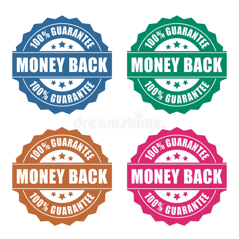 Money back guarantee icon royalty free illustration