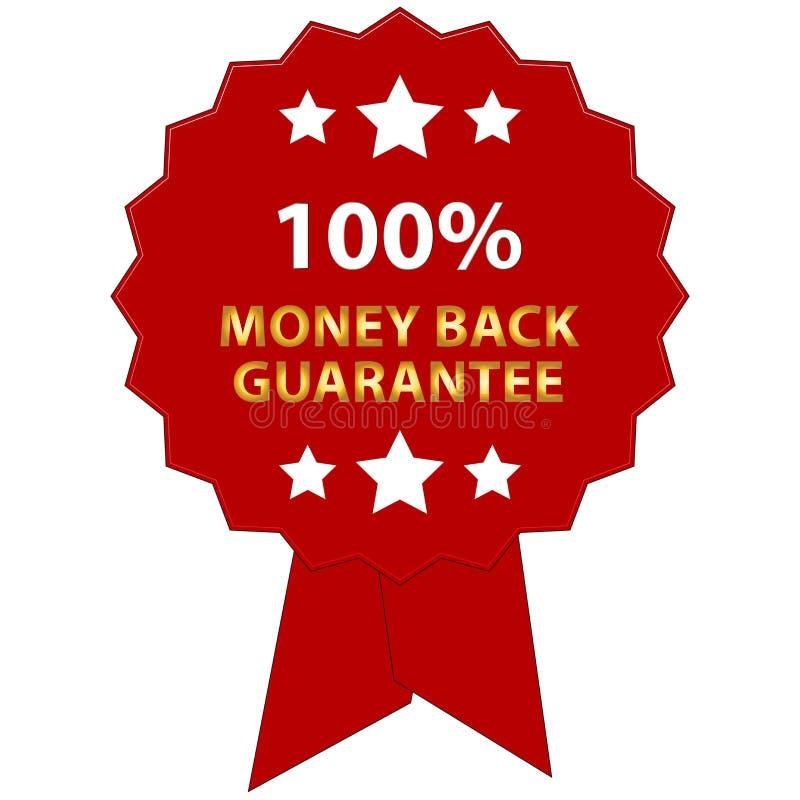 Money back guarantee stock illustration