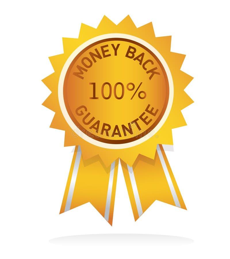 Money back guarantee label royalty free illustration