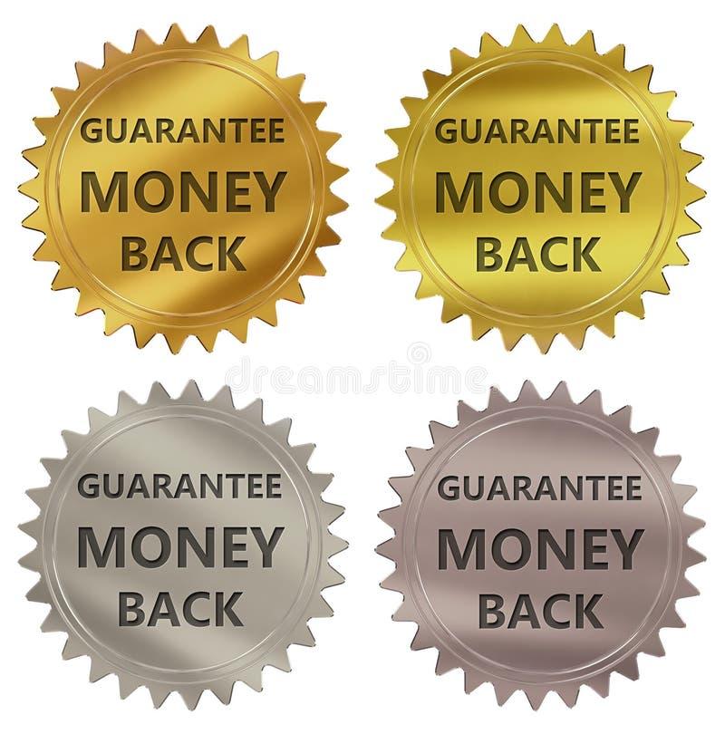 Money back guarantee label vector illustration