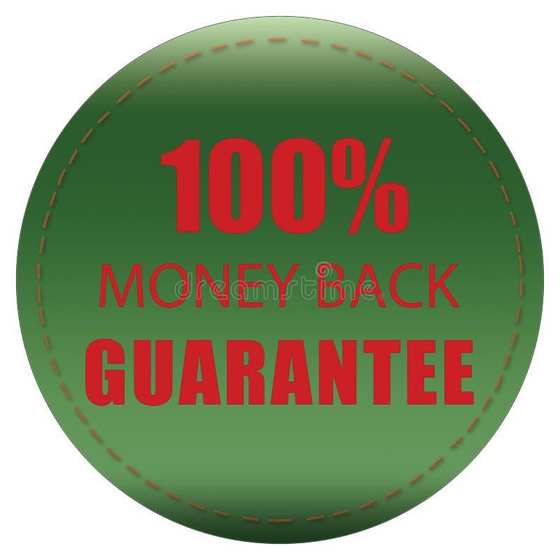 100% MONEY BACK GUARANTEE, RED GREEN COLORFUL ICON BADGE LABEL, ILLUSTRATION DESIGN. 100% MONEY BACK GUARANTEE, COLORFUL, RED GREEN WEB PRODUCT ICON BADGE LABEL vector illustration