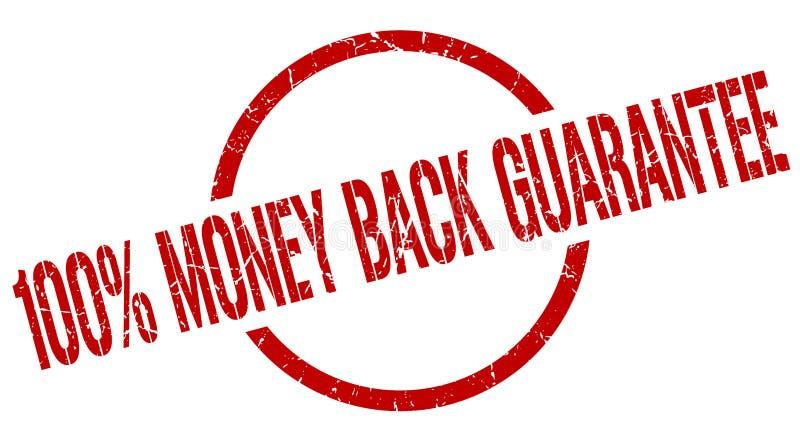 100% money back guarantee stamp stock illustration