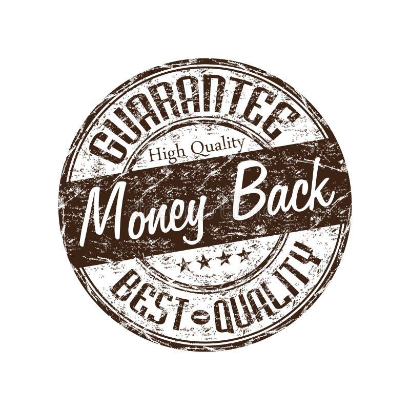 Money back guarantee stamp royalty free illustration