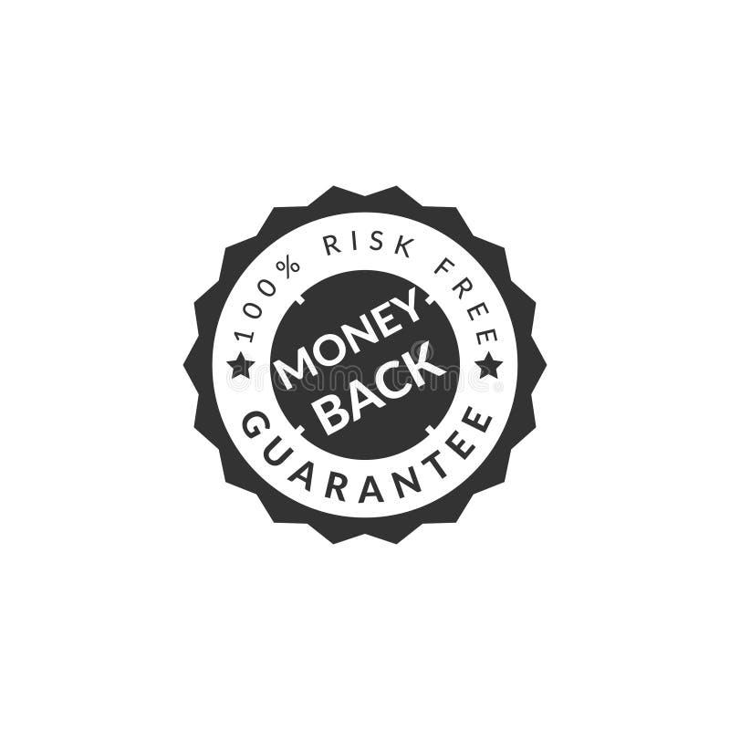 100% money back guaranteed badge royalty free illustration
