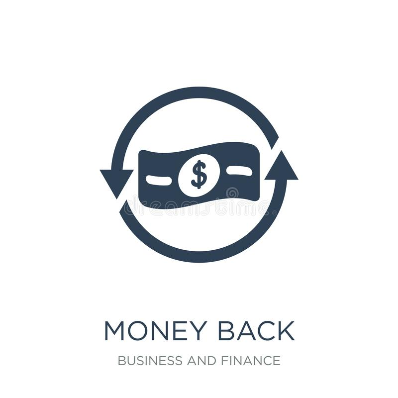 money back icon in trendy design style. money back icon isolated on white background. money back vector icon simple and modern royalty free illustration