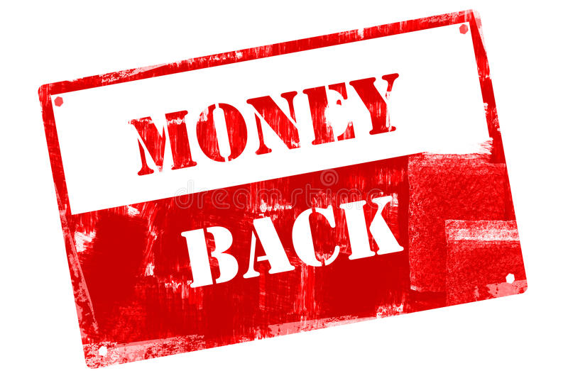 Money Back, illustrated with grunge textures stock illustration