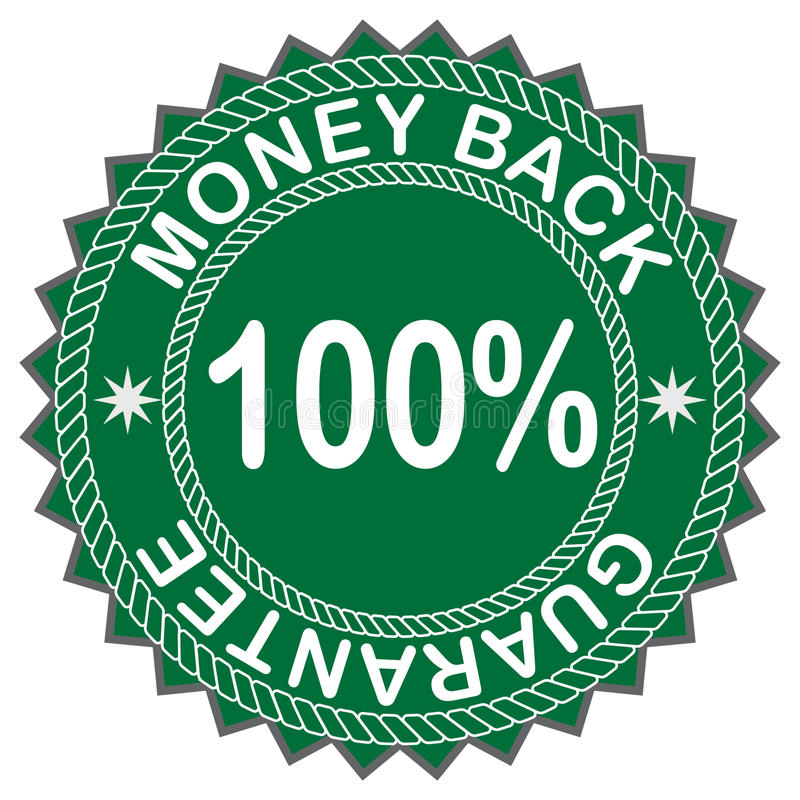 Money back label. For design vector illustration